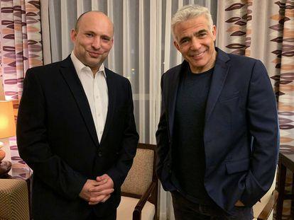 Naftali Bennett, a la izquierda, y Yair Lapid, el pasado 3 de junio.