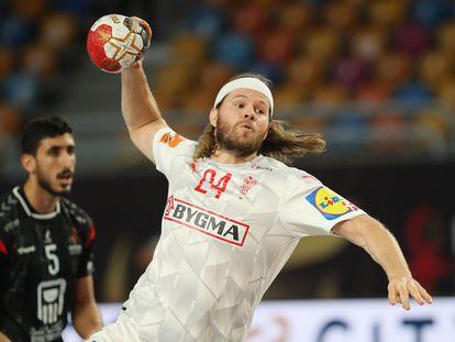 Mikkel Hansen, en cuartos del Mundial contra Egipto.