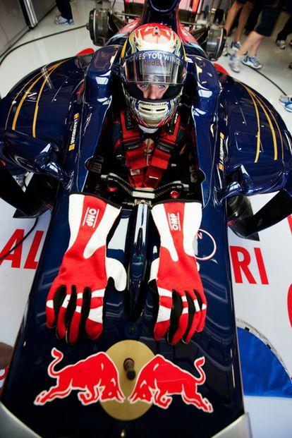 Jaime Alguersuari durante los entrenamientos libres del Gran Premio de Hungría.