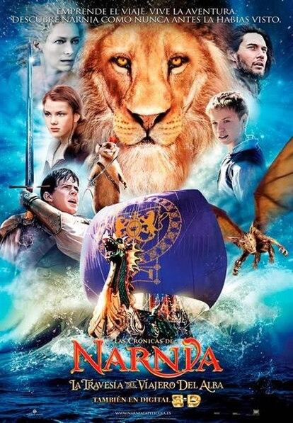Cartel de Las Crónicas de Narnia: La travesía del viajero del Alba