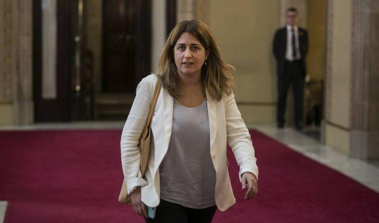 La coordinadora general del PDeCAT, Marta Pascal, en una imagen de archivo en el Parlament.