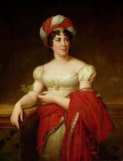 Madame de Staël retratada por Marie Éléonore Godefroid.