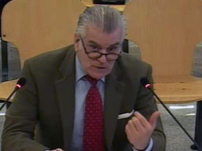 Señal institucional de vídeo de la declaración de Luis Bárcenas el 9 de marzo, en el juicio de la caja b del PP.