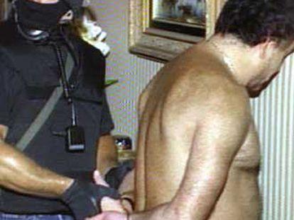 Un detenido en la Operación Avispa el pasado junio.