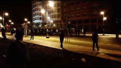 Manifestación de subsaharianos en Tánger el miércoles 4 de diciembre.