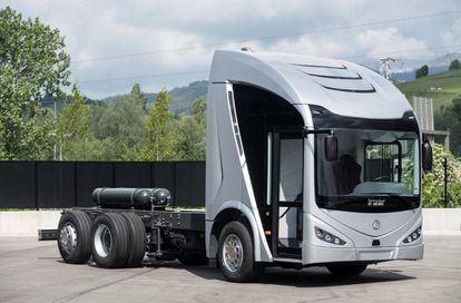 Prototipo del camión eléctrico ideado por la firma Irizar.