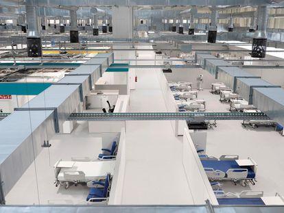 Vista del interior del Hospital Enfermera Isabel Zendal, nuevo centro de la sanidad pública de la Comunidad de Madrid, antes de su inauguración.