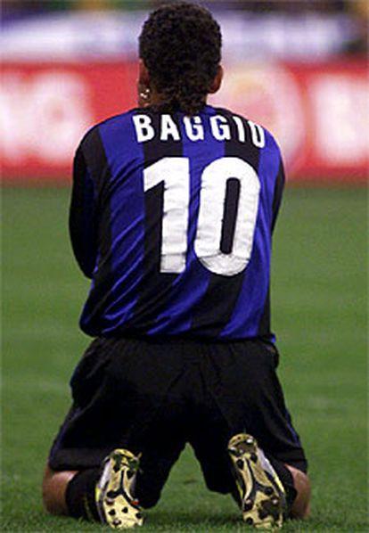 Baggio, con la camiseta del Inter.