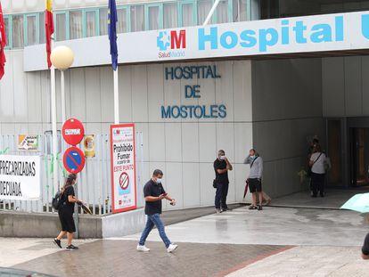 Hospital Universitario de Móstoles cuya dirección ha decidido mantener suspendida toda cirugía no prioritaria en el centro por el reciente aumento de casos de coronavirus.