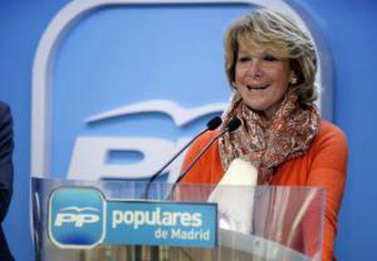 Fotografía facilitada por el PP de la presidenta del partido en Madrid, Esperanza Aguirre. EFE/Archivo