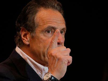 El gobernador de Nueva York, Andrew Cuomo, en una comparecencia en Queens.