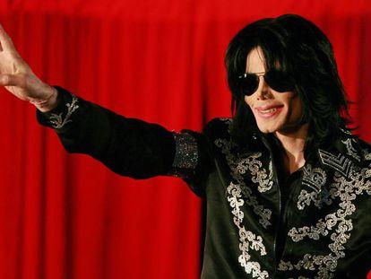 Michael Jackson, en una conferencia de prensa en Londres, en marzo de 2009.
