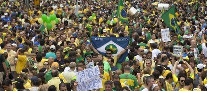 Protestas en Brasil el pasado 15 de marzo por la política del Gobierno.