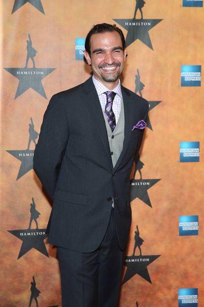 Javier Muñoz, una de las estrellas del musical 'Hamilton'.