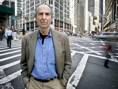 Philip Roth fotografiado en Nueva York.