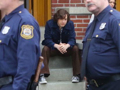 Michael Gandolfini, en el rodaje de 'The Many Saints of Newark', la serie donde retoma el papel de mafioso que convirtió a su padre en una estrella gracias a 'Los Soprano'.