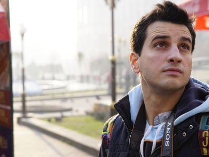 El informático David Méndez, de 34 años, ha creado una página para ayudar a los afectados por la presunta oferta de la empresa Ocio Hoteles. En la imagen, en una visita turística a Ucrania antes de la pandemia.