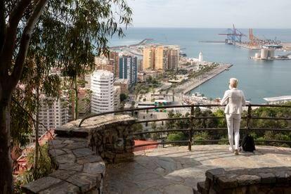 Vista de Málaga desde el mirador de Gibralfaro.