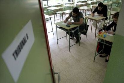 Oposición de profesores de secundaria en Madrid, en 2010.