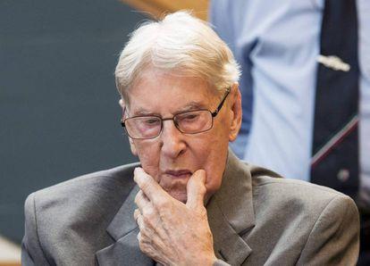 Reinhold Hanning, de 94 años, este viernes durante su juicio.