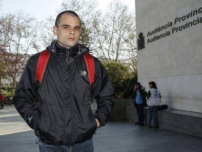 Rafael Blasco, Rablaci, a su llegada del juzgado de Valencia el pasado mes.