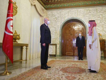 El presidente Kais Said recibe este viernes al ministro de Exteriores saudí, Faisal bin Farhan Al-Saud, en el palacio de Cartago