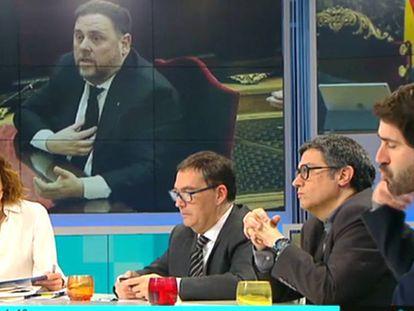 Imagen de la tertulia este miércoles sobre el juicio del 'procès' en 'Tot ès mou'.