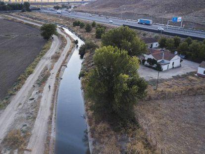 El canal del jarama en Borox (Toledo).