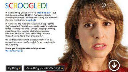 Campaña de Microsoft contra Google en las pasadas navidades.