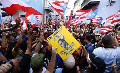 Manifestación contra Ricardo Rosselló en Puerto Rico.