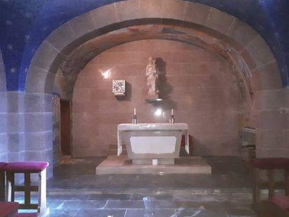 Interior de la cripta del cementerio del Pardo-Mingorrubio donde será enterrado Franco.