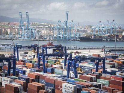 El puerto de Algeciras es uno de los puntos de mayor entrada de cocaína de Europa.
