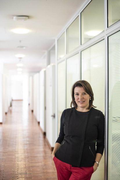 La politóloga Sandra Borda, en la universidad de Los Andes.
