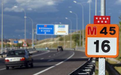 Carretera M-45, en Madrid.