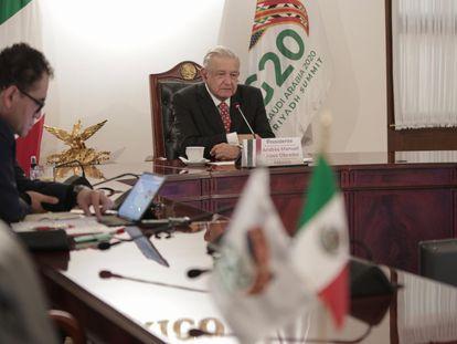 López Obrador, durante su participación en la cumbre del G20.