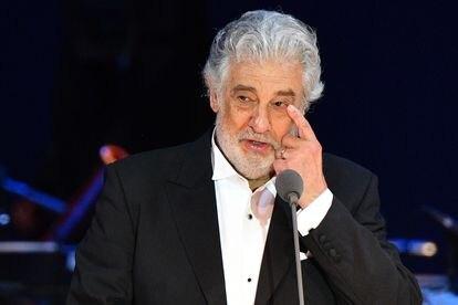 Plácido Domingo, durante un concierto en Hungría, en agosto de 2020.