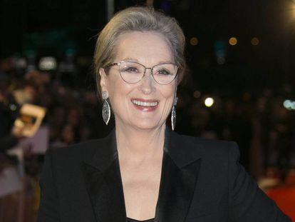 Meryl Streep, en la premiere de 'Los archivos del Pentágono' en Londres.