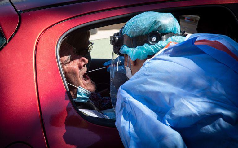 Prueba PCR realizada en Alfaro (La Rioja) el 31 de agosto.