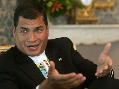 El expresidente de Ecuador Rafael Correa, en una imagen de archivo.