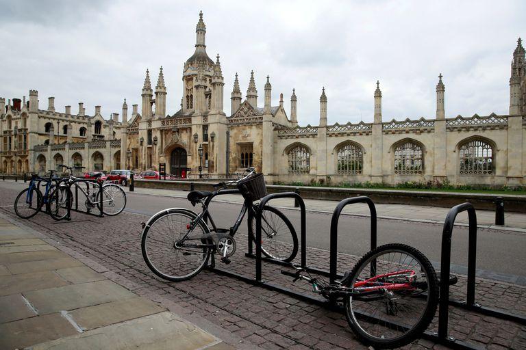 Bicicletas en la Universidad de Cambridge durante el confinamiento.
