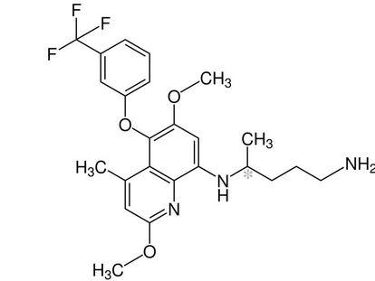 Estructura de la tafenoquina, el principio activo del nuevo fármaco contra la malaria.