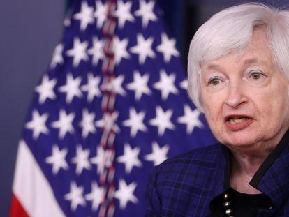 Janet Yellen, secretaria del Tesoro estadounidense, el pasado 7 de mayo en la Casa Blanca.