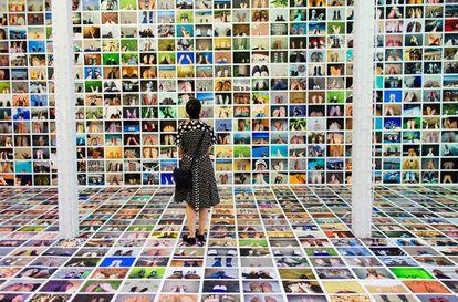 Instalación 'Shot of My Feet', f/stop International Photography Festival, Leipzig, Alemania, 2014
