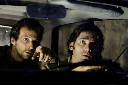 Mathieu Kassovitz y Eric Bana, en una escena de <i>Múnich,</i> de Steven Spielberg.