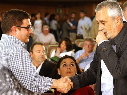 José Antonio Griñán y Francisco Reyes, el 9 de mayo en el comité director del PSOE.