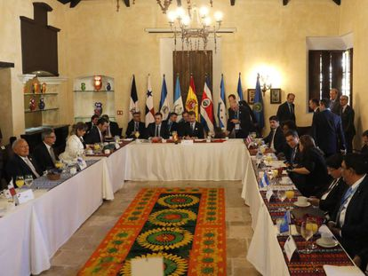 Desayuno oficial de la Cumbre Iberoamericana.
