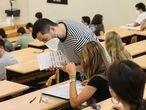 Prueba de la EBAU este lunes en la Universidad Complutense de Madrid.