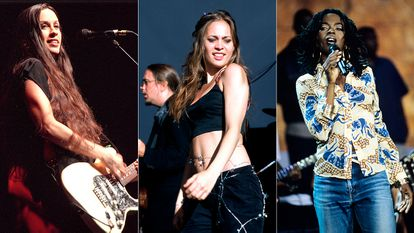 Las artistas Alanis Morissette, Fiona Apple y Lauryn hill, en la década de los noventa.