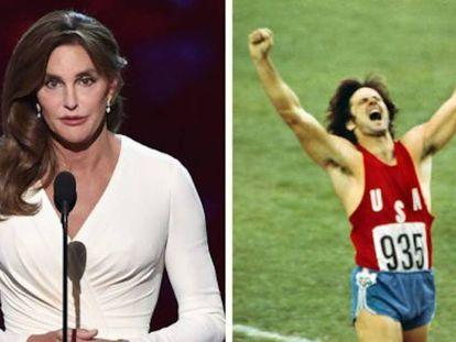 La misma persona: a la izquierda, Bruce Jenner ya como mujer (Caitlyn), en 2015. A la derecha, proclamándose campeón olímpico de decatlón en los Juegos de Montreal, en 1976.