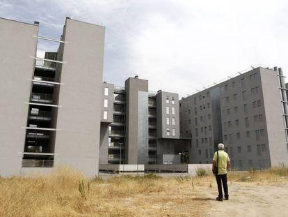Bloques de viviendas públicas en un distrito de Madrid.
